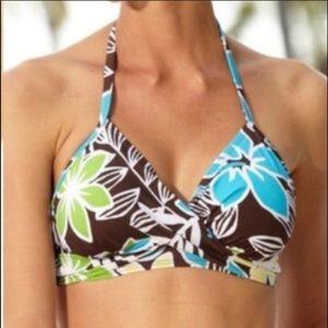 Hapari Tropical Hawaiian Halter Bikini Top NWT